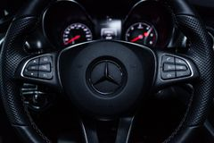 Novosibirsk, Russia - December 04, 2018: Mercedes-Benz v-class royalty free stock photo