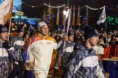 Novosibirsk, Russia - 7 dicembre. Karelin, Alexander con il Ol Immagine Stock Libera da Diritti