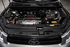 Novosibirsk, Russia - February 19, 2019: Toyota RAV-4 royalty free stock image