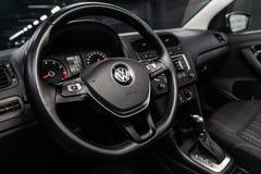 Novosibirsk, Russia 28 giugno 2019: Volkswagen Polo immagine stock