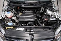 Novosibirsk, Russia 28 giugno 2019: Volkswagen Polo immagini stock libere da diritti