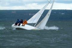 NOVOSIBIRSK,RUSSIA-JULY12:Sailing Regatta, Interregional competition Royalty Free Stock Image
