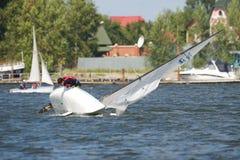 NOVOSIBIRSK,RUSSIA-JULY12:Sailing Regatta, Interregional competition Stock Photography