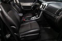Novosibirsk, Russia June 28, 2019: Chevrolet Captiva. Novosibirsk, Russia – June 28, 2019: Chevrolet Captiva, close-up of the dashboard, steering wheel royalty free stock photos