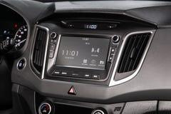 Novosibirsk, Russia June 28, 2019: Hyundai Creta. Novosibirsk, Russia – June 28, 2019: Hyundai Creta, close-up of the dashboard, adjustment of the blower royalty free stock images