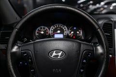 Novosibirsk, Russia  June 22, 2019: Hyundai Santa Fe. Novosibirsk, Russia – June 22, 2019:  Hyundai Santa Fe, close-up of the dashboard, speedometer royalty free stock photos