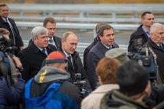 Novosibirsk, Russia - October 8, 2014: Vladimir Vladimirovich Pu Stock Images
