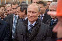 Novosibirsk, Russia - October 8, 2014: Vladimir Vladimirovich Pu Royalty Free Stock Photos