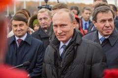 Novosibirsk, Russia - October 8, 2014: Vladimir Vladimirovich Pu Stock Photo
