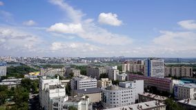 NOVOSIBIRSK, RUSSIA - View of Novosibirsk city. Timelapse 5. NOVOSIBIRSK, RUSSIA - View of Novosibirsk city center. Panorama of busuness city. Summer cityscape stock video