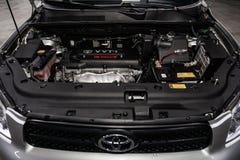 Novosibirsk Ryssland - Februari 19, 2019: Toyota RAV-4 royaltyfri bild