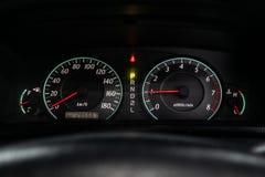 Novosibirsk Ryssland - Maj 31, 2019: Toyota Corolla royaltyfria bilder