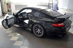 Novosibirsk Ryssland - 06 14 2018: Porsche 911 royaltyfri fotografi