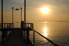Novosibirsk solnedgång Royaltyfria Bilder