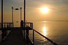 Novosibirsk sunset. Sunset on Novosibirsk reservoir in Russia royalty free stock images