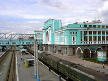 Novosibirsk trainstation Royalty Free Stock Images