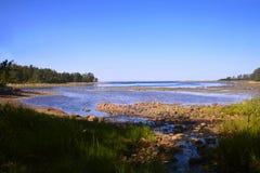 Novososnovy Bay. The White Sea, the island of Bolshoi Solovetsky Royalty Free Stock Photo