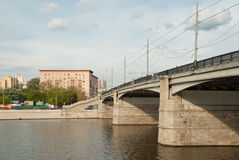 Novospasskiy bridge in Moscow Stock Photography