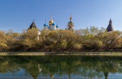 Novospassky修道院在莫斯科,俄罗斯 库存图片
