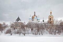 Novospassky kloster Royaltyfria Foton