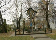 Novospassky monastery in autumn Stock Image