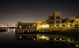 Novotel Al Dana Resort Bahrain. Night view of Manama Stock Photos