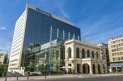 Novotel Bucharest. Situated in the heart of Bucharest, Novotel Bucharest City Centre is within walking distance of Cretulescu Church, National Museum of Art of stock photo