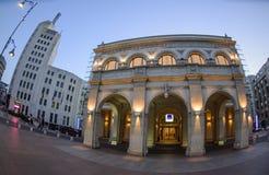 Novotel Hotel and Bucharest Telephone Palace Royalty Free Stock Images