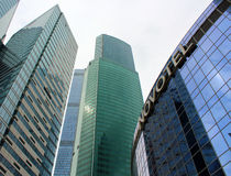 Novotel hotel in the business center Moscow-City Royalty Free Stock Photos