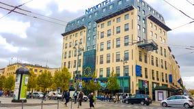 Novotel hotel in Vilnius Stock Images