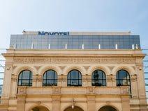 Novotel luksusowego hotelu fasada Zdjęcie Royalty Free