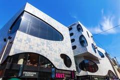Novotel Suites with shopping arcade De Passage in The Hague, Netherlands. The Hague, Netherlands - April 21, 2016: Novotel Suites with shopping arcade De Passage Stock Images