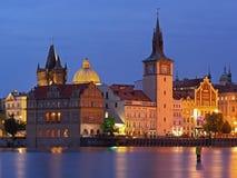 Novotneho lavka in Prague. Former mills, water tower, Prague Old Town Waterworks Royalty Free Stock Images