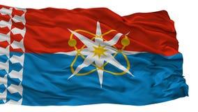 Novouralsk City Flag, Russia, Sverdlovsk Oblast 2010, Isolated On White Background. Novouralsk City Flag, Country Russia, Sverdlovsk Oblast 2010, Isolated On royalty free illustration