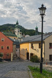 Novozamocka ulica przy Banska Stiavnica Obrazy Stock