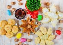 Novruz Azerbeidzjaans tradities Nieuw jaar Selectieve nadruk stock afbeelding