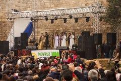 Novruz Bayram ferie i huvudstaden av Republiken Azerbajdzjan i staden av Baku 22 mars 2017 Royaltyfri Bild