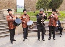 Novruz Bayram wakacje w kapitale republika Azerbejdżan w mieście Baku 23 Marzec 2017 zdjęcie stock