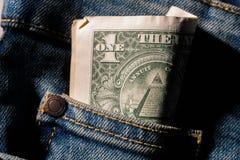` novus ordo seclorum ` jeden dolarowa USA symbolizm Ostrosłup i wszystkowidzący oko fotografia royalty free