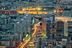 Novy Arbat ulica w Moskwa od wzrosta obraz stock