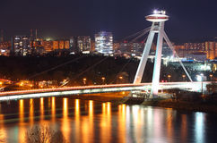 Novy bridge in Bratislava Royalty Free Stock Images