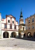 Novy Jicin, República Checa Iglesia de la suposición de la Virgen María Imagen de archivo libre de regalías
