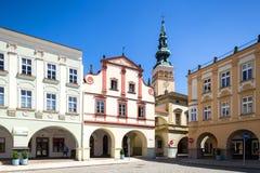 Novy Jicin, República Checa Iglesia de la suposición de la Virgen María Fotografía de archivo