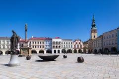 Novy Jicin, repubblica Ceca Vecchio mercato del quare Fotografia Stock Libera da Diritti