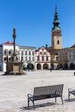 Novy Jicin, Tjeckien Kyrka av antagandet av den jungfruliga Maryen Royaltyfria Bilder