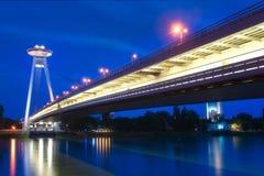Novy Most in Bratislava royalty free stock photos