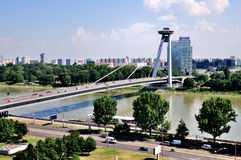 Novy Most Bridge, Bratislava Royalty Free Stock Photography