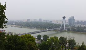 Novy Most Bridge in Bratislava Royalty Free Stock Image