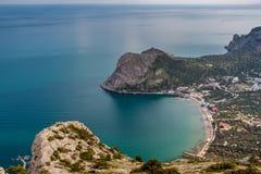 Novyi Svit stad i Krim Arkivbild