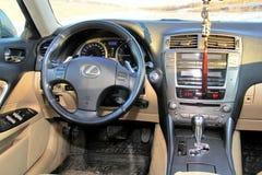 Lexus IS250. Novyy Urengoy, Russia - September 28, 2014: Interior of the motor car Lexus IS250 Royalty Free Stock Photos